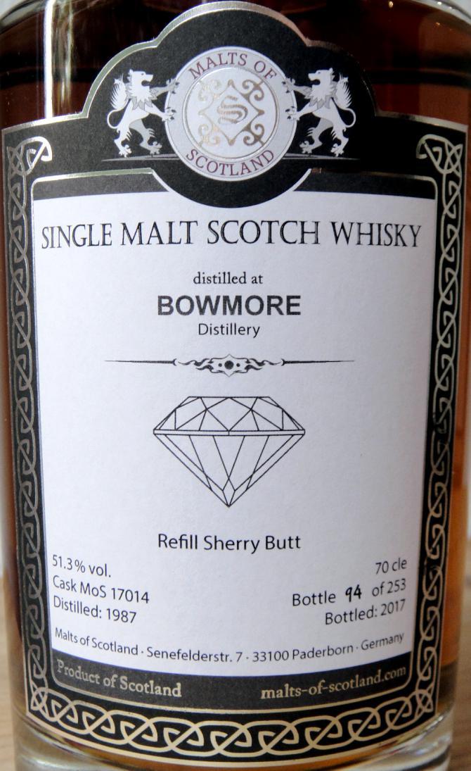 Bowmore 1987 MoS