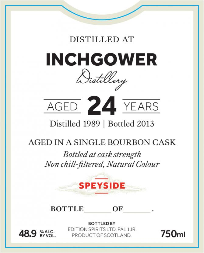 Inchgower 1989 ED