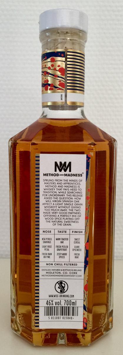 Method and Madness Single Grain Irish Whiskey