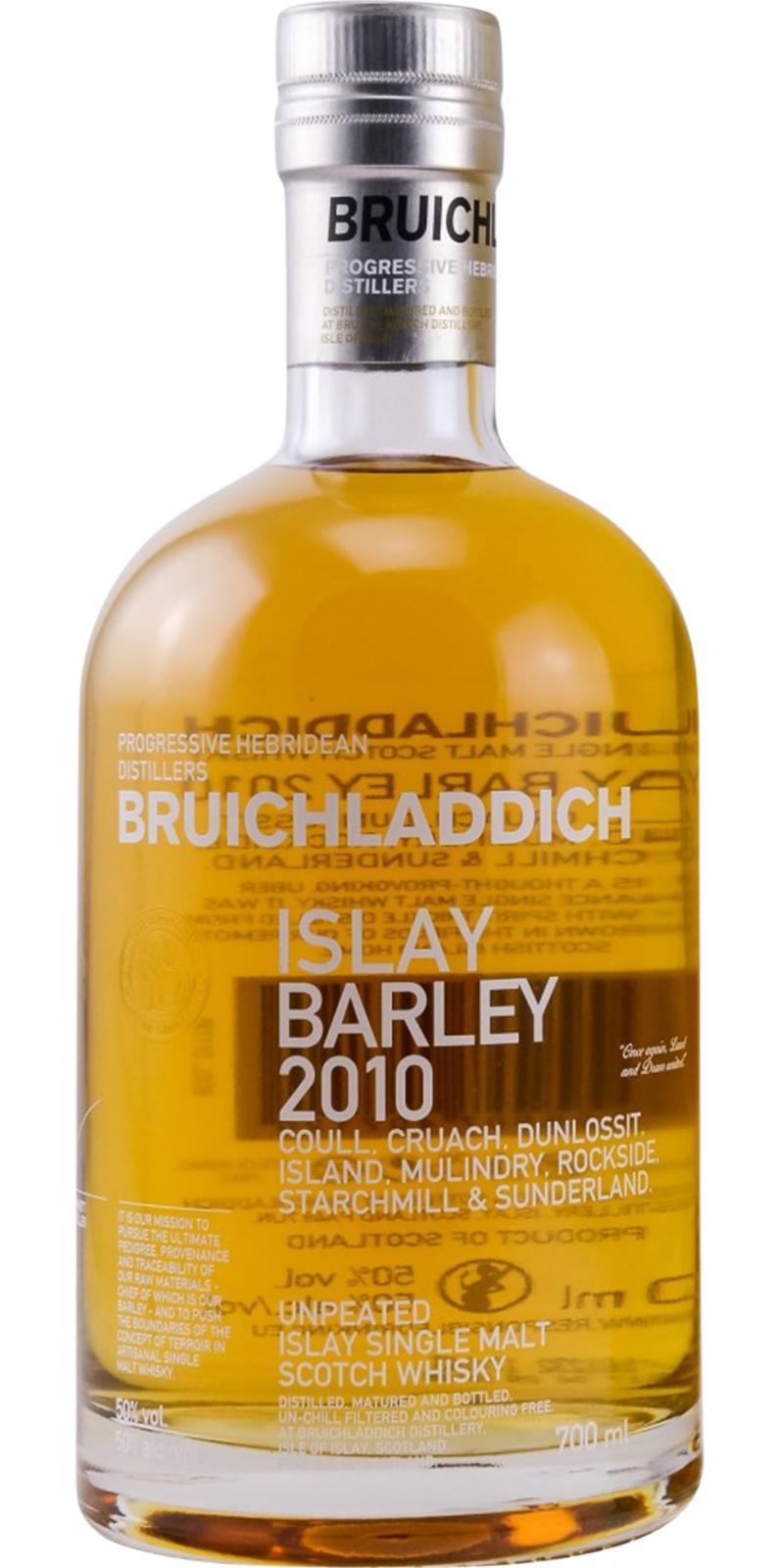 Bruichladdich 2010 Islay Barley