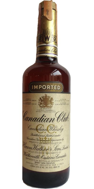 Canadian Club 1967 Imported