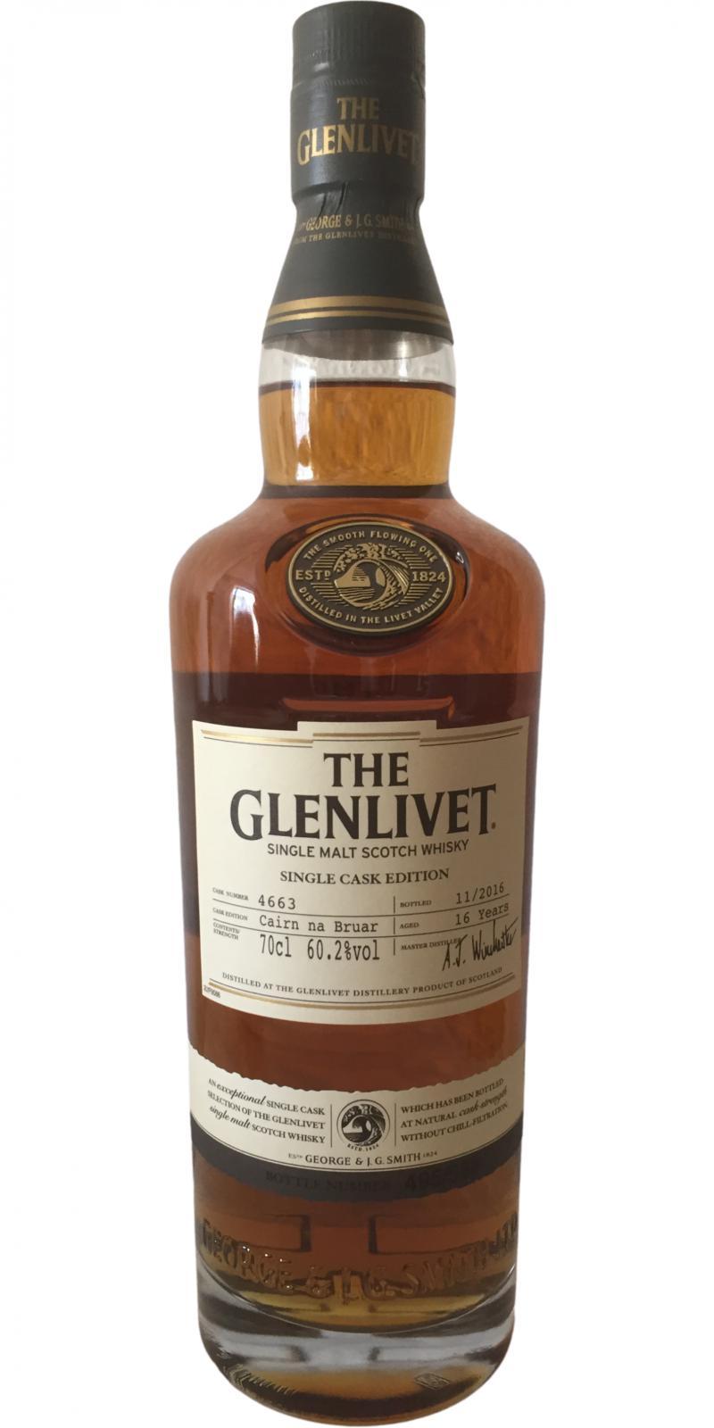 Glenlivet 16-year-old - Caírn na Bruar