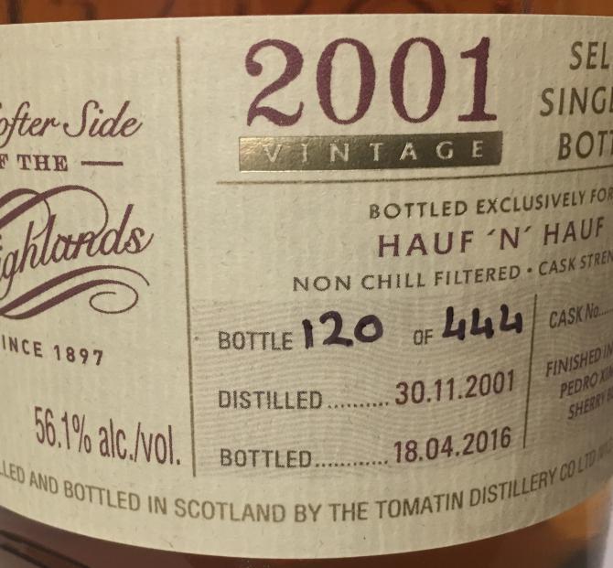 Tomatin 2001