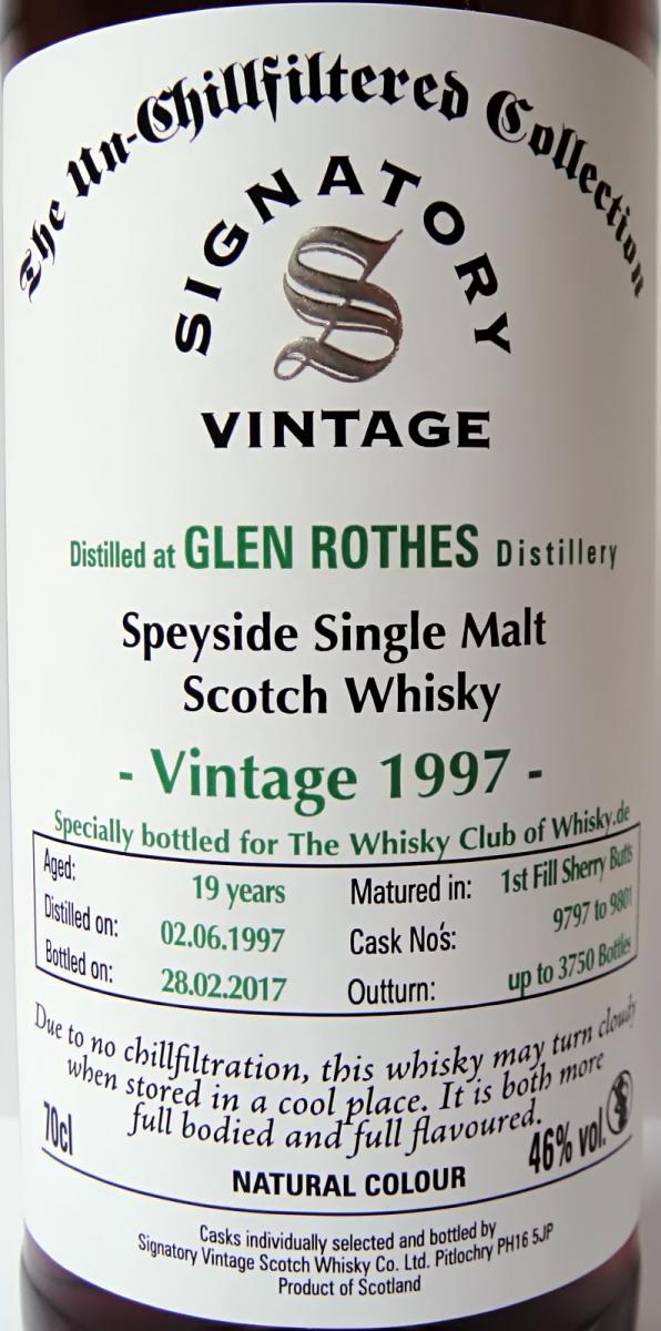 Glenrothes 1997 SV