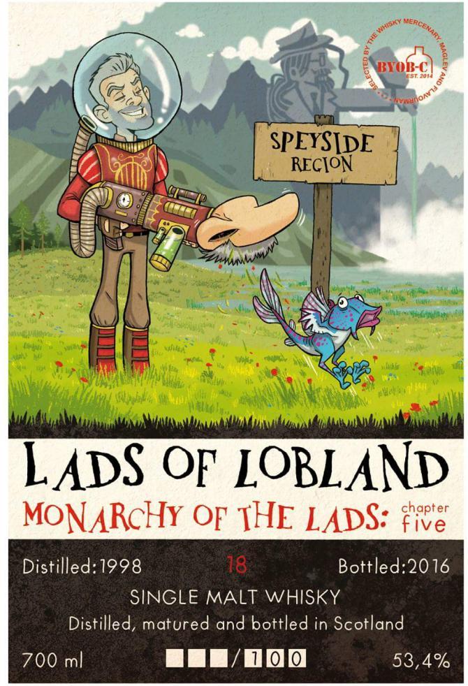 Speyside Region 1998 TWM BYOB-C   Lads of Lobland