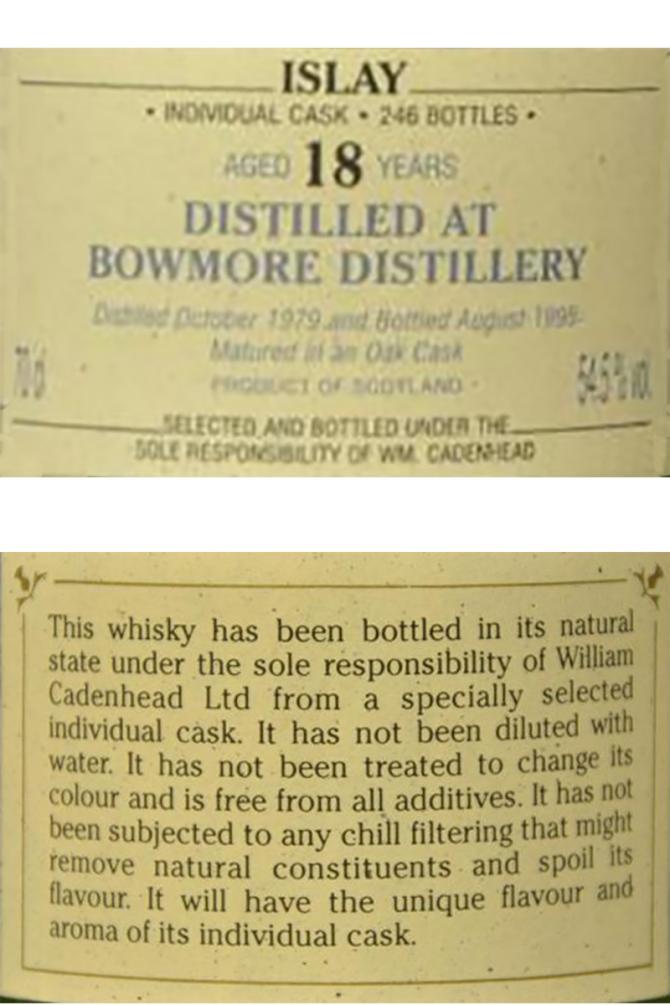 Bowmore 1979 CA