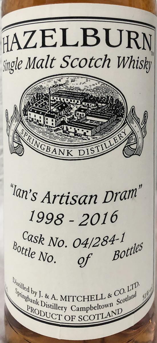 Hazelburn 1998 - Ian's Artisan Dram