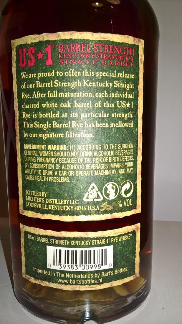 Michter's US*1 Barrel Strength Rye