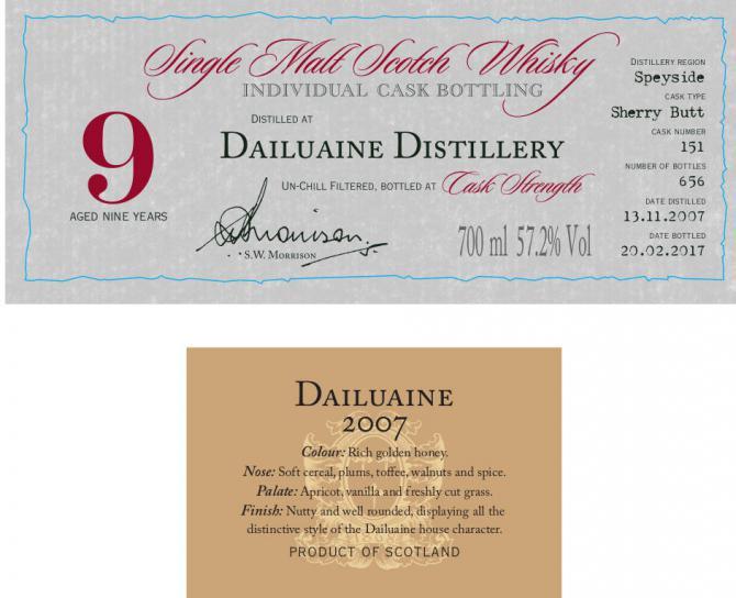 Dailuaine 2007 DR