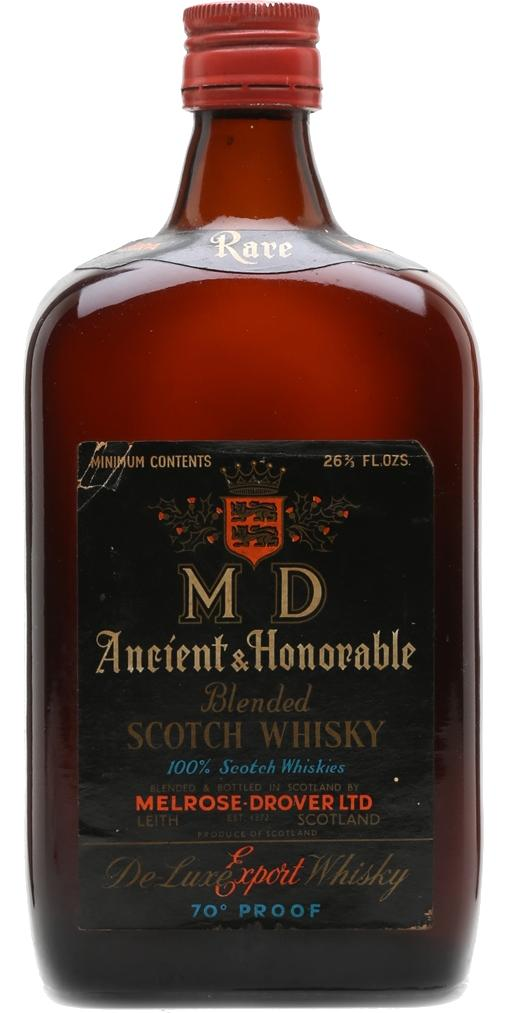 M D Ancient & Honorable Blended Scotch Whisky