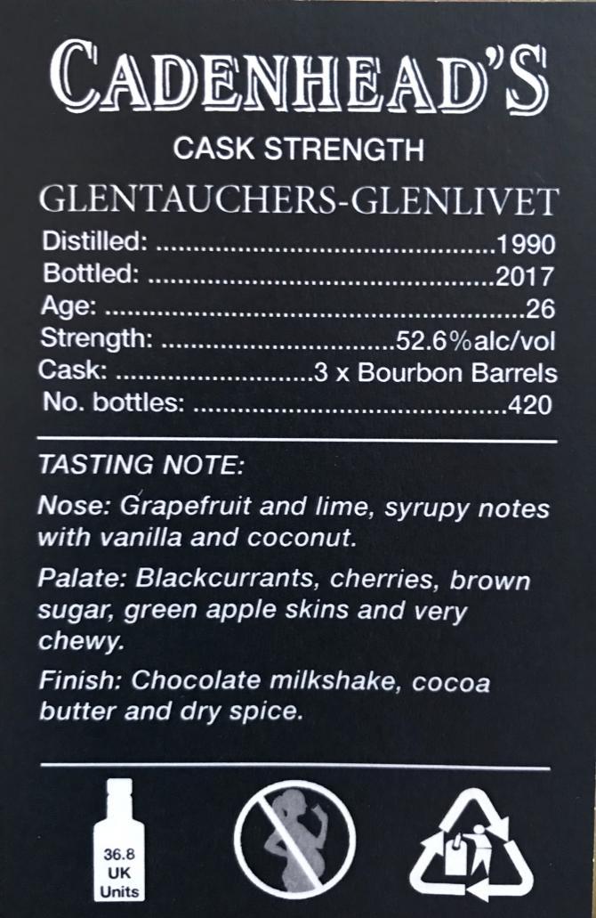 Glentauchers 1990 CA