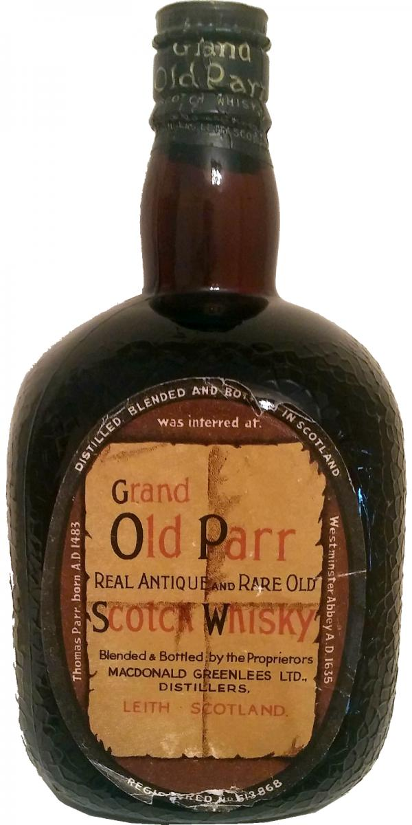Grand Old Parr Real Antique and Rare Old Scotch Whisky