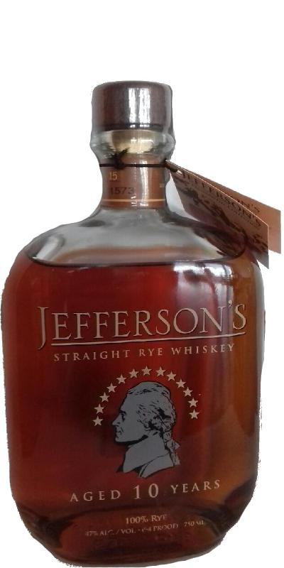 866e20d534a Jefferson s 10-year-old - Ratings and reviews - Whiskybase