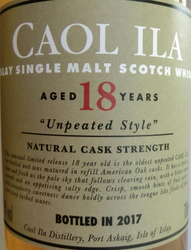 Caol Ila 18-year-old - Unpeated Style