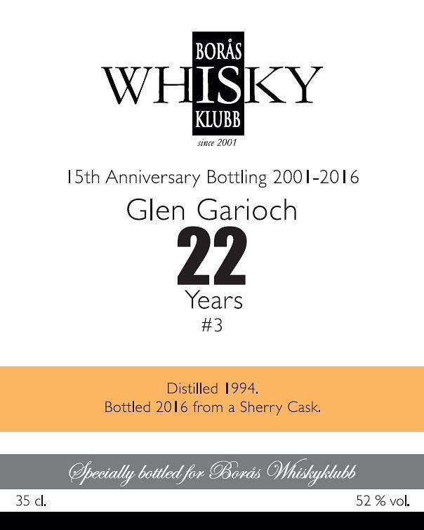 Glen Garioch 1994 BWk