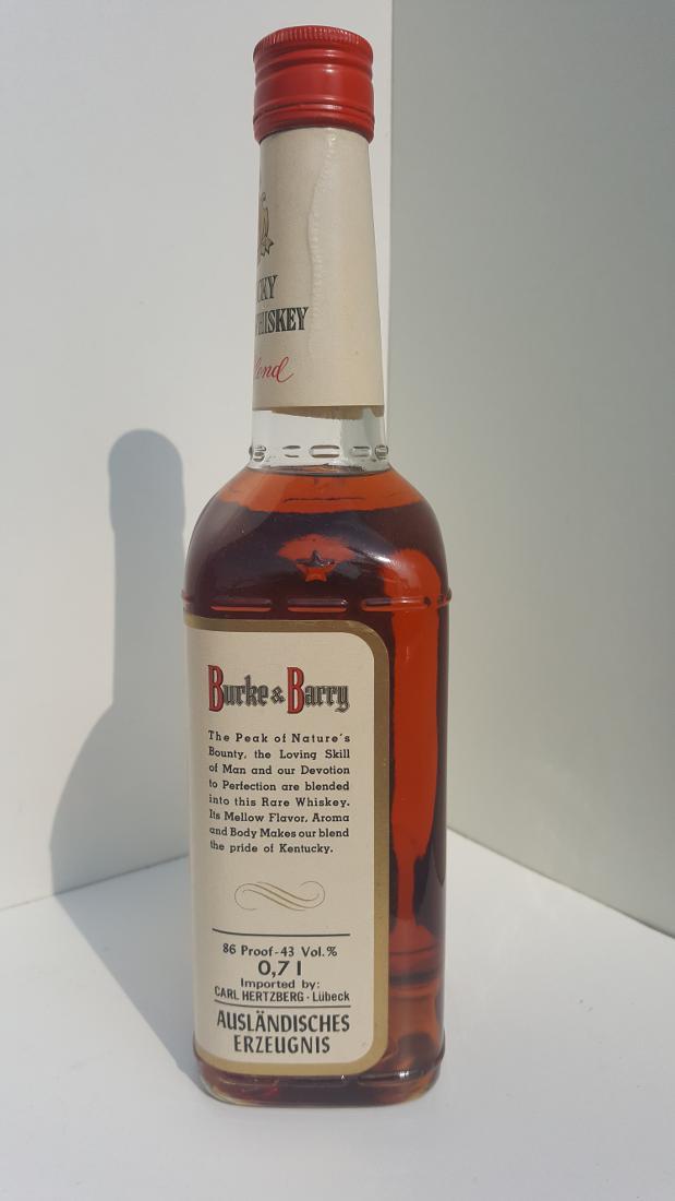 Burke & Barry Kentucky Bourbon Whiskey