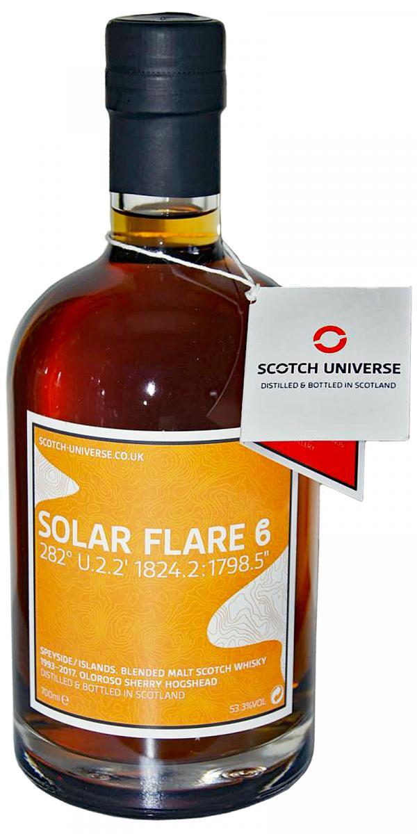 "Scotch Universe Solar Flare Beta 282° U.2.2' 1824.2 : 1798.5"""