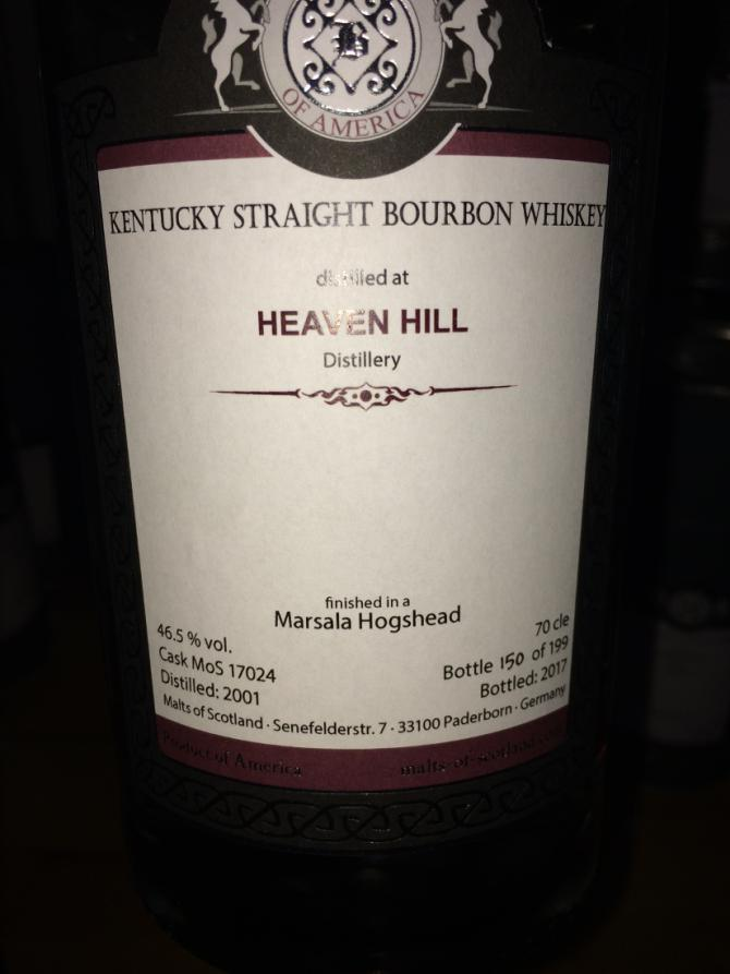 Heaven Hill 2001 MoS