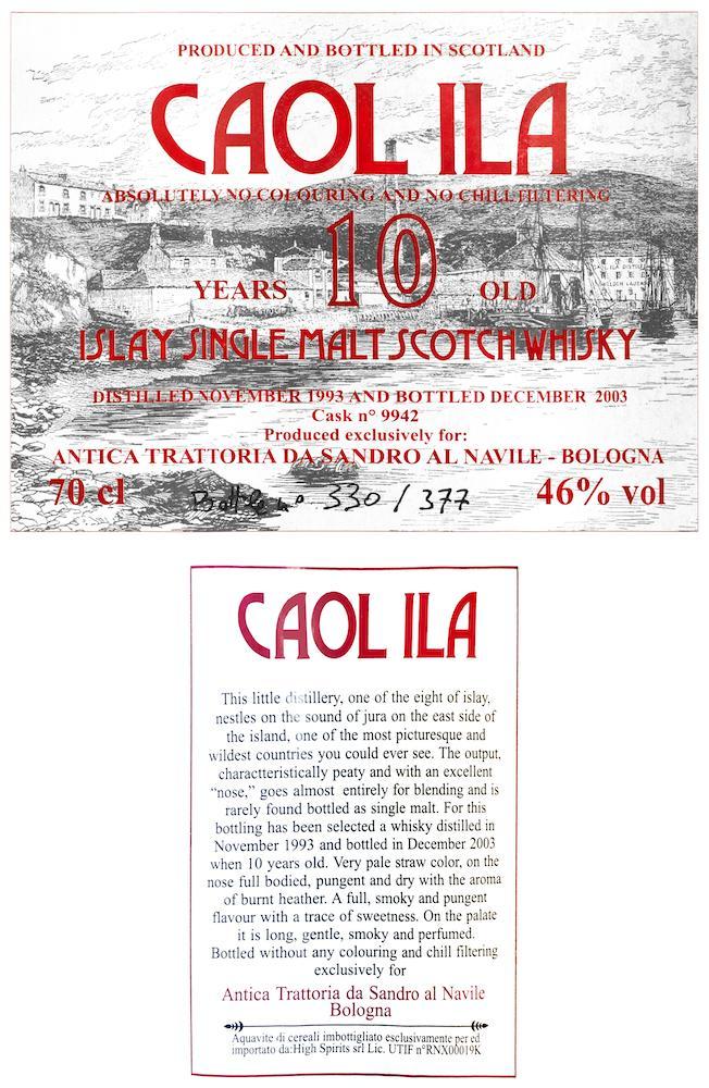 Caol Ila 1993 HSC