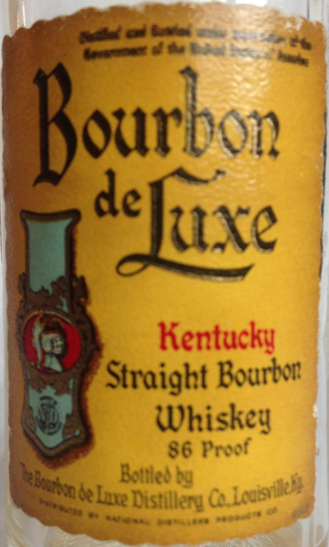 Bourbon de Luxe Kentucky Straight Bourbon Whiskey