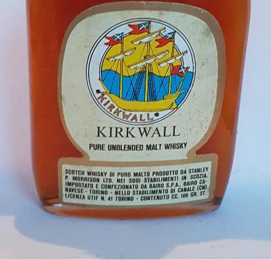 Kirkwall Pure Unblended Malt Whisky SPM