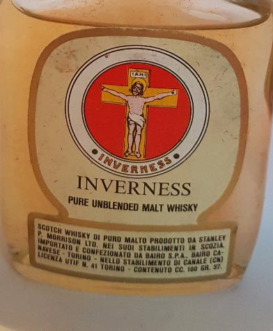 Inverness Pure Unblended Malt Whisky SPM