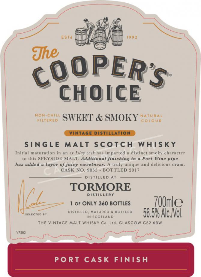 Tormore Sweet & Smoky CC