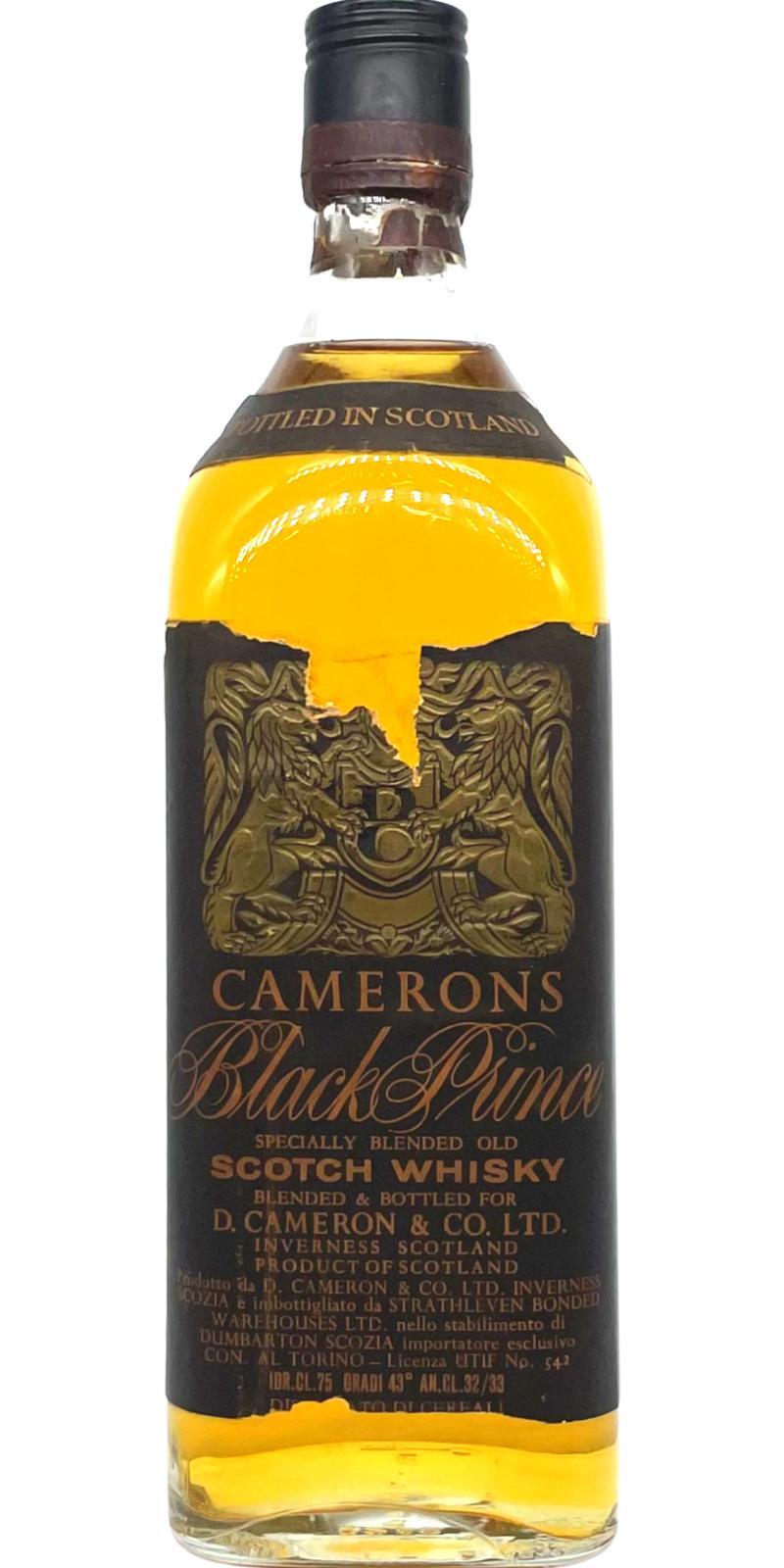 Camerons Black Prince