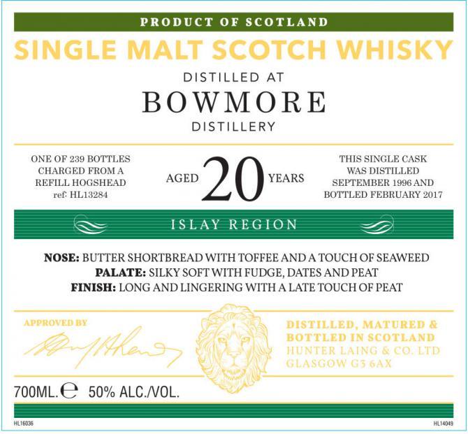 Bowmore 1996 HL