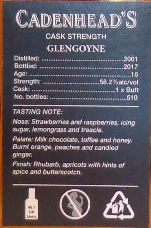 Glengoyne 2001 CA