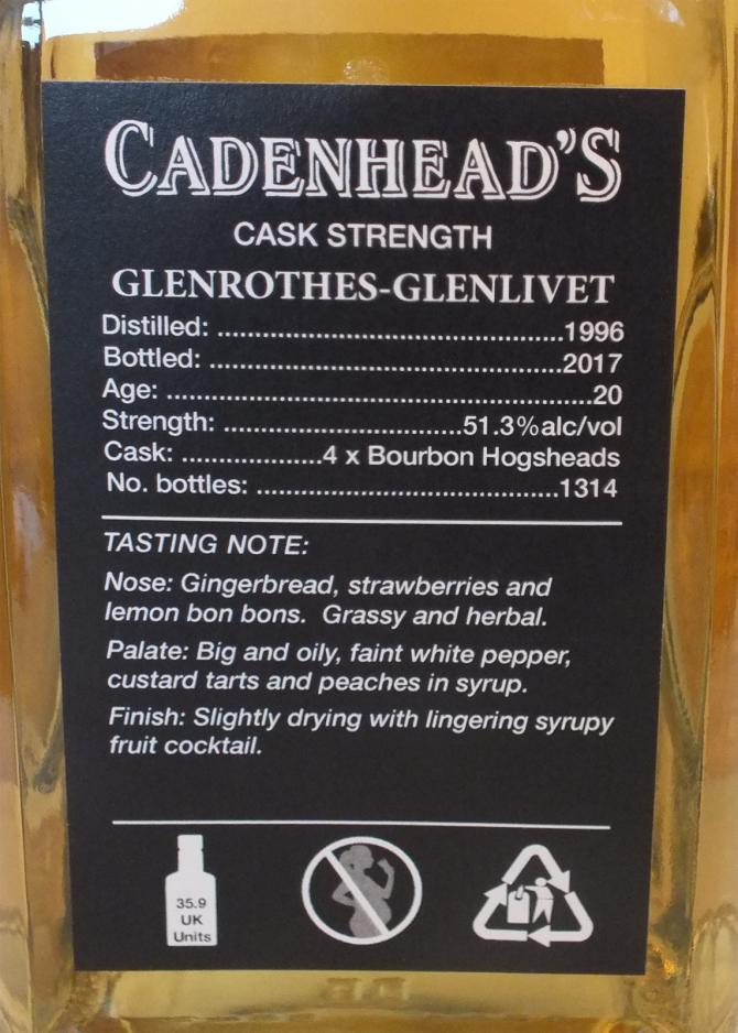 Glenrothes 1996 CA