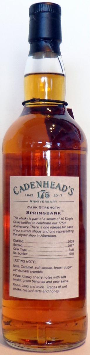 Springbank 2003 CA