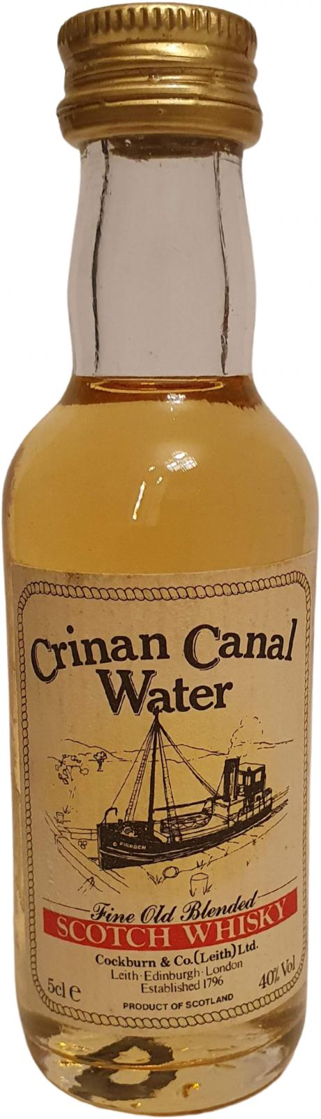 Crinan Canal Water Fine Old Blended