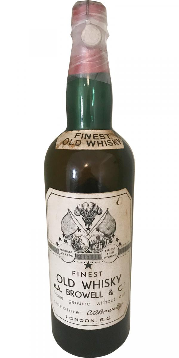 AA. Browell & Co. Finest Old Whisky