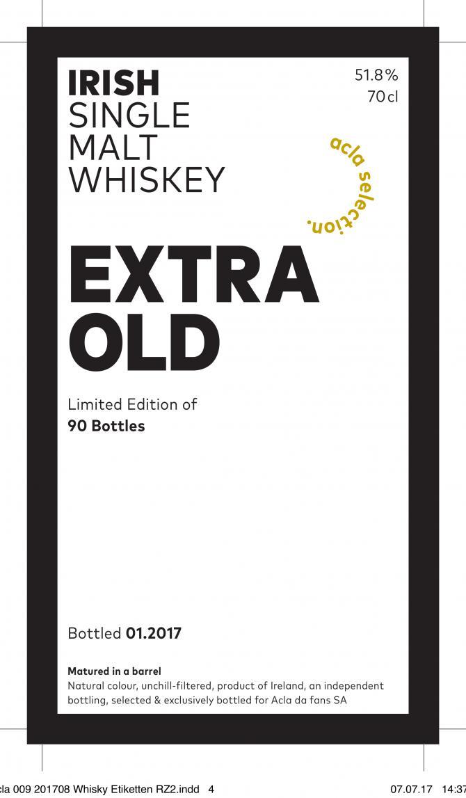 Irish Single Malt Whiskey Extra Old AdF