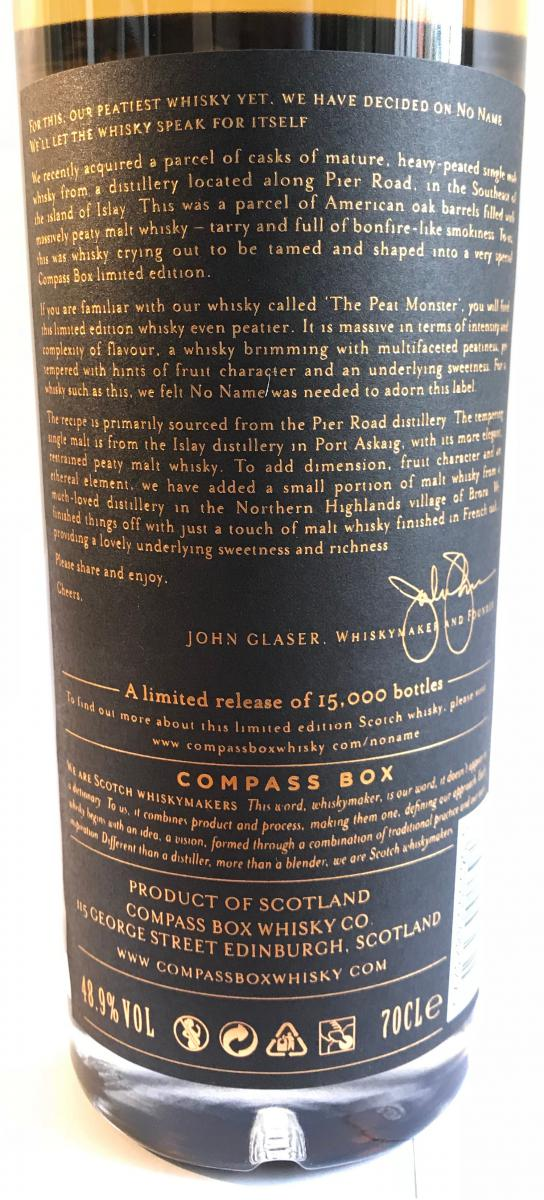 No Name Blended Malt Scotch Whisky CB