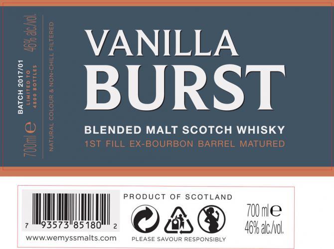 Vanilla Burst Blended Malt Scotch Whisky