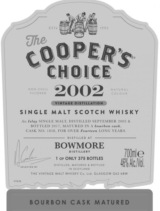 Bowmore 2002 CC